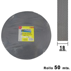 Cinta Persiana Wolfpack Gris 18 mm. Rollo 50 Metros