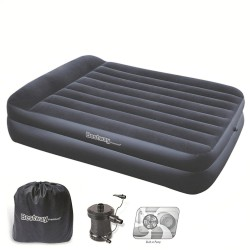Cama Inflable Doble Con Bomba Exterior 220 V. 203x152x48 cm.