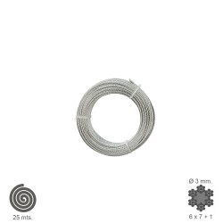 Cable Galvanizado    3 mm. (Rollo 25 Metros) No Elevacion