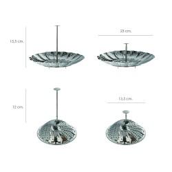 Tubo Aluminio Compacto Gris Ø 120 mm. / 5 metros