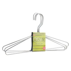 Percha Oryx Metal Camisa 400 mm. (Pack 3 Piezas)
