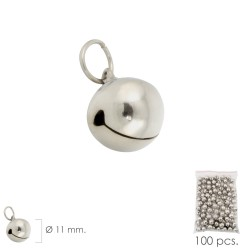 Cascabel Niquelado  11 mm.  (Bolsa 100 Unidades)